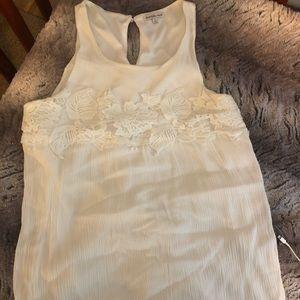 Mid Thigh White Dress.